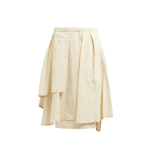 2019 latest Women Clothing ivory silk lady Silk-blend wrap skirt