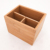 Custom fancy bamboo wooden office pen organizer pencil holder box for desk