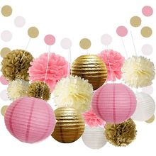 tissue paper ball  flower paper kids  birthday party wedding decoration supplies set