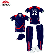 Volle hand personalisierte benutzerdefinierte sublimiert cricket kits