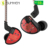 KZ AS10 5BA HiFi Stereo Earphone In-ear Earbuds with 0.75mm 2 Pin Cable - Black with Mic