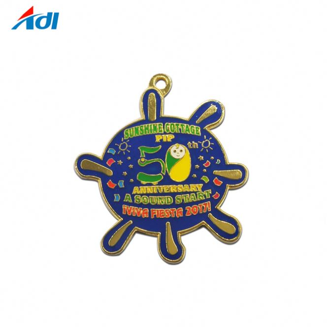 Gift India Gold Plating Swimming Sports Medal