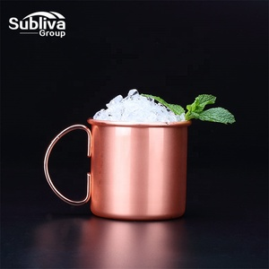 Manufacturer Copper Moscow Mule Mug 480ml Solid Stainless Classic Mug Personalized with Two Color