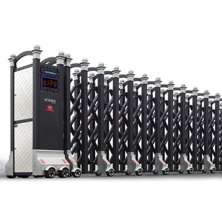 Electric Automatic Retractable Sliding Gate Aluminum Metal Gate Design