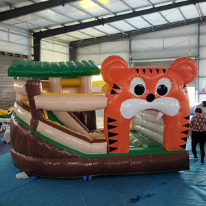 Home Use Kids PVC waterproof tigger bouncer slide inflatable jumping bouncy castle