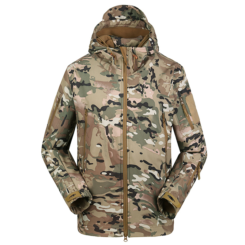 ESDY Outdoor Army Military Uniform Combat Softshell Waterproof Tactical Hoodie Hunting Jacket фото