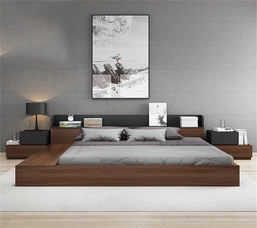 chinese newest design king bed of Bedroom Furniture HX-8ND9105