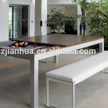 High Quality Metal Material Dining Table Pool Combo
