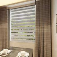 Blackout ready made jacquard Motorized curtain for living room