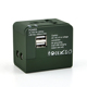 Universal travel power adapter charger travel adaptor 2 usb ports with case