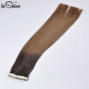 Real Human Tangling Free Cuticle Aligned Curly Hair Extension Tape In
