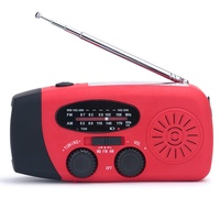 Best Emergency Survival Crank Dynamo Fm Radio with Solar Led Flashlight