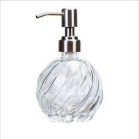 high quality empty hand sanitizer glass bottle hand wash liquid soap dispenser bottle with pump