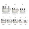 hot sales glass empty cosmetic jars 5g 10g 15g 20g 30g 50g 100g beautiful designs contains