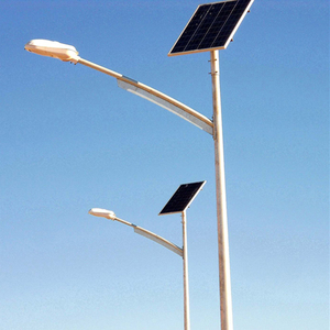 Cctv camera pole cardinal solar post cap light carbon