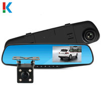Car DVR Dual Lens Car Camera Full HD 1080P Video Recorder Rearview Mirror With Rear view DVR Dash cam