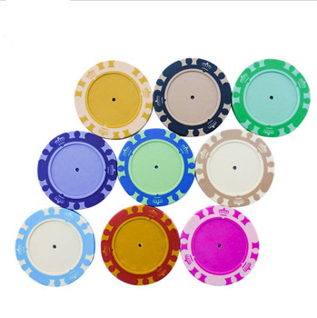 High quality 40MM 13.5G blank crown style clay poker chips wholesale for casino (without stickers inlay)