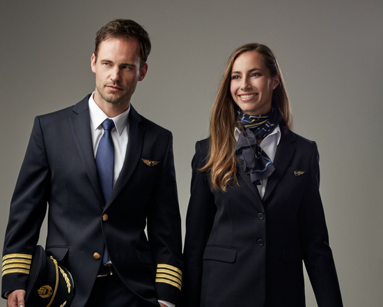 American Airlines Sexy Airline Pilot Stewardess Uniform