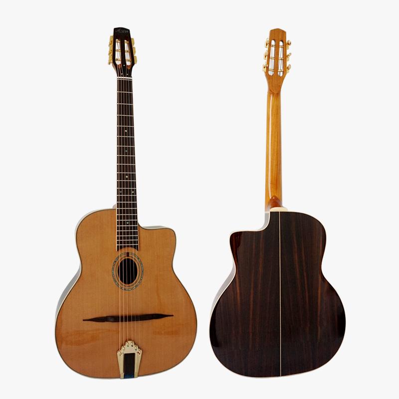 Alibaba.com / Aiersi brand Solid Cedar Top Petit Bouche Gypsy jazz acoustic Guitar