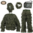 Wholesale custom men camo camouflage hunting clothing military uniform sniper ghillie suit fabric