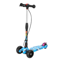 One Second Folding Feature Height Adjustable 3 Wheels Foot Scooter With Hand Brake For Kids