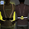 Adjustable Reflective LED Running Cycling or Hiking Vest & Belt With Multicolored LED Fiber Optics
