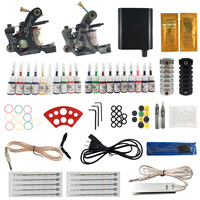 Ouliang Professional Complete Tattoo Machine Kit Include 2 Pcs Machines