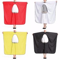 Soft Waterproof Wrinkle Resistance More Color Custom Printed Salon Cape With PVC Window