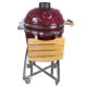 22inch Redand Green Color Outdoor Ceramic Kamado with Cooking Grate Inside