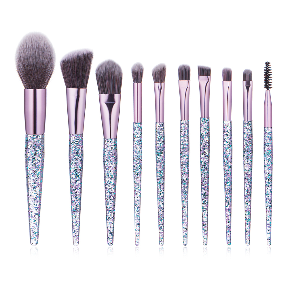 Professionele Synthetisch Haar Cosmetica 10 pcs Make Up Brush Set Kabuki Kwast kit Make-Up Kwasten Gereedschap