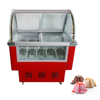 Acryl Display Gelato Showcase Ice Cream Fridge Display
