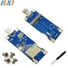 Mini PCI-E PCIe to USB 2.0 Adapter with SIM Card Slot for GPRS/WWAN/LTE/3G/4G Wireless Module VER: 5.0