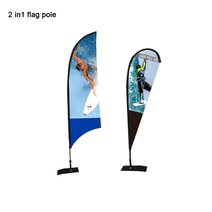 2 in 1 indoor Blade drop fiberglass <strong>Flag</strong> for exhibition display