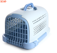 2019 Nuovo Disegno di Plastica di Trasporto Air Box Pet Travel Carrier Gabbie Portatile Gabbie Dell'animale Domestico <span class=keywords><strong>Vettori</strong></span>