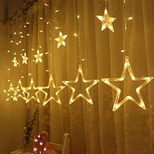Twinkle Star Led Window Curtain String Light สำหรับงานแต่งงาน Christmas Party Home Garden ห้องนอน