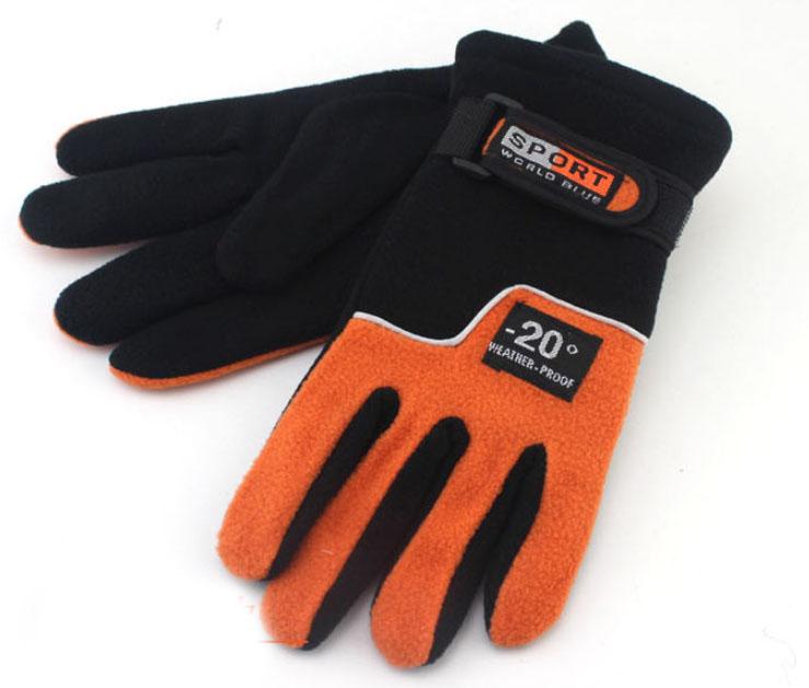 windproof polar fleece gloves custom logo thick warm unisex outdoor sport fleece gloves
