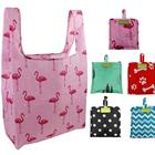 Foldable Reusable Grocery Bags Bulk Cute Designs Folding Shopping Tote Bag Fits in Pocket Eco Friendly Ripstop Nylon Waterproof