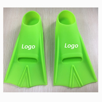 best quality solid silicone swim fins training flippers for swimming diving