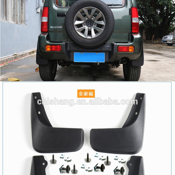 For Suzuki Jimny 2007-2017 ABS Plastic Front Rear Mud Flaps Splash Guards Covers Mudguard Fenders Splasher Mudflap 4Pcs/set