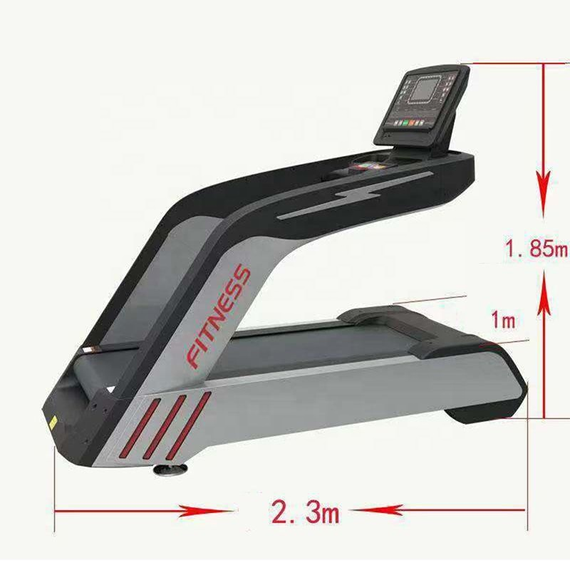 Door To Door Luxury Customized AC Key Motorized Commercial Treadmill With MP3, Black;sliver;green;pink;yellow