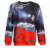 Custom Oversized Women Black dye Sublimation Hooded Crewneck Sweatshirt