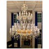 Custom hotel big empire crystal chandelier lighting