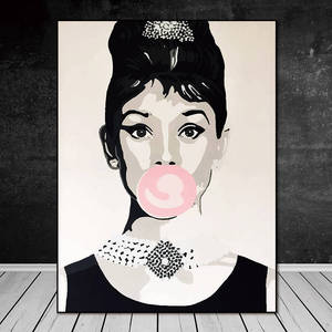 canvas painting for bedroom Audrey Hepburn famous abstract art paintings painting wall art