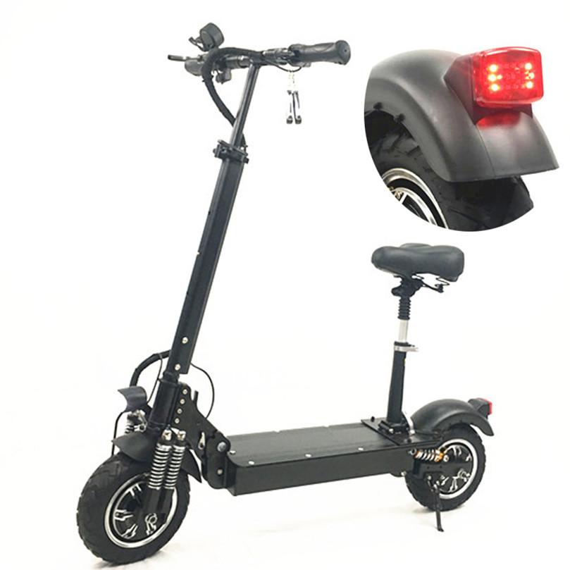 2019 el scooter Adult Foldable dual motor fat tire electric scooter 10 inch Two Wheel scooter electrico