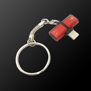 2 in 1 pill shape Charging Audio Earphone Convertor Charger Splitter Headphone metal Adapter dual lightningg adapter for iPhone