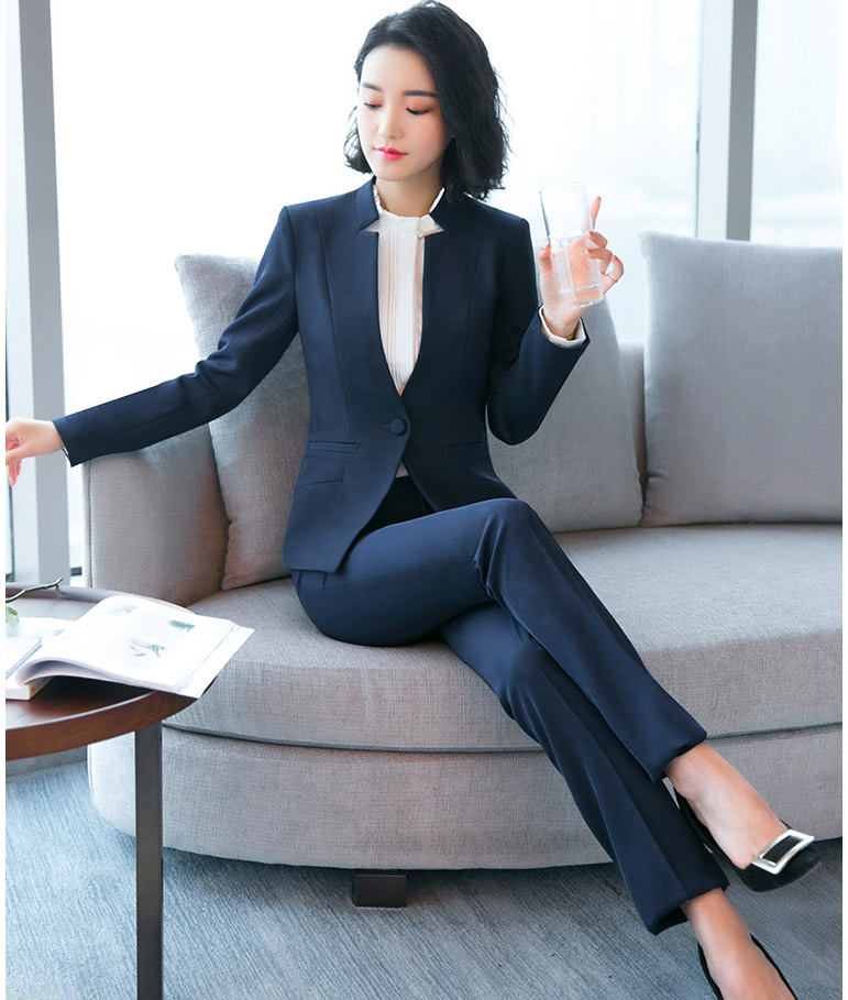 Girls in business suits topless