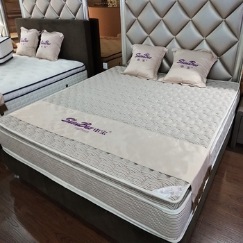 5 star hotel furniture comfort double pillow top pocket spring mattress