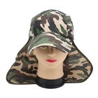 Promotional cotton Ear Flap Neck Cover Sun Hat Baseball Camo Military Cap Fishing Hunting Hiking