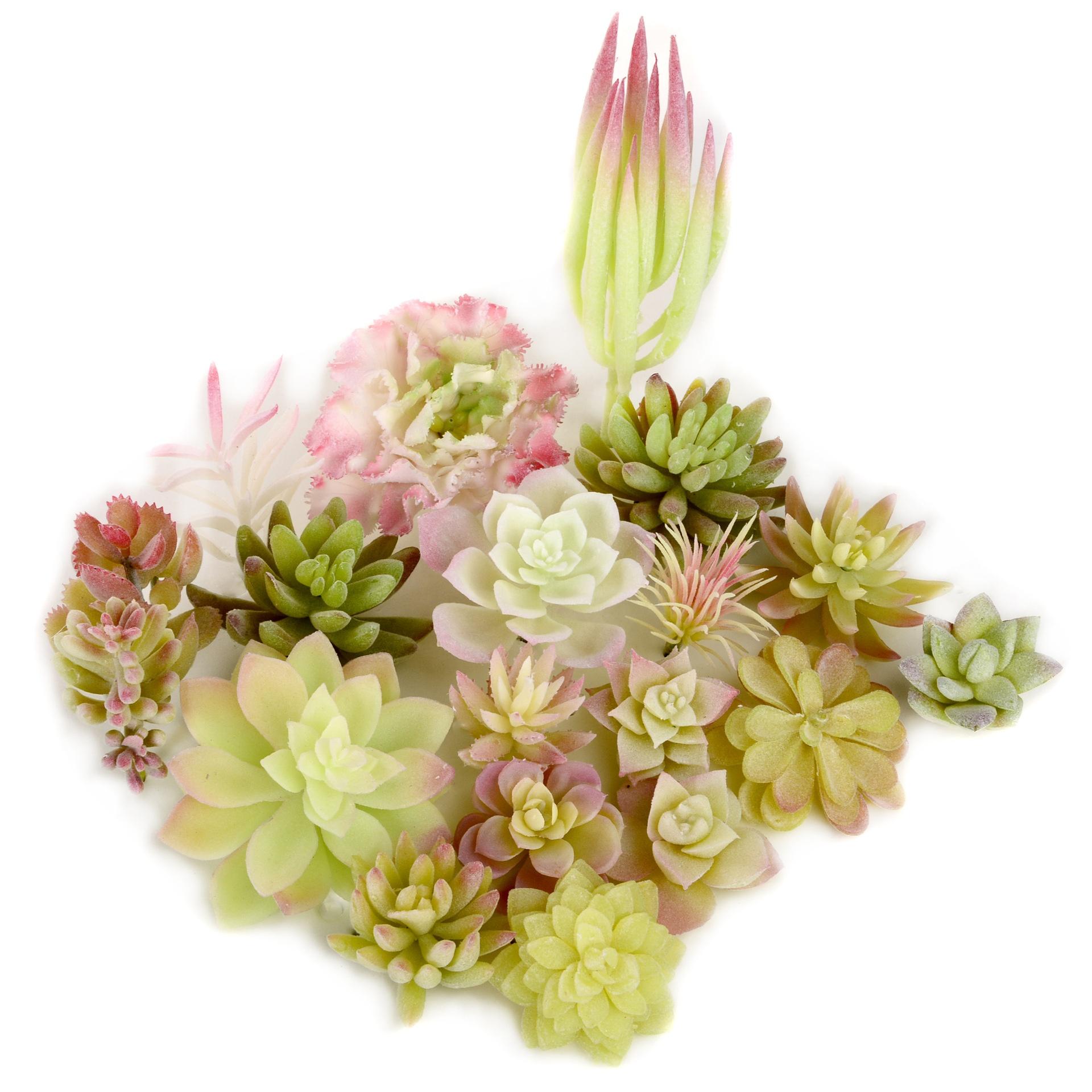 Factory 4-9 cm mini decorated plastic flowers Flower arrangement accessories artificial succulent plants