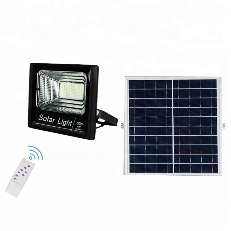 HIGH QUALITY smart waterproof 25w with remote control led solar powered flood light